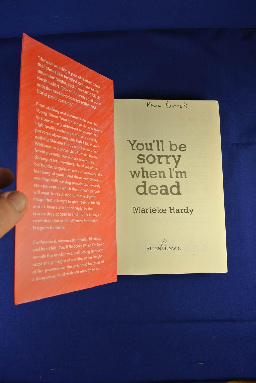 YOU-039-LL-BE-SORRY-WHEN-I-039-M-DEAD-Marieke-Hardy-BOOK-Funny-Memoir-Australian-Writer thumbnail 6